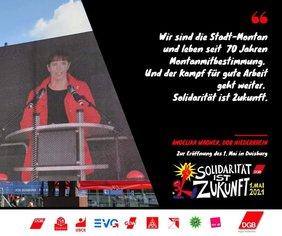 DGB 1. Mai Duisburg mit Angelika Wagner