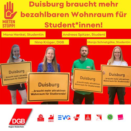 Plakataktion zum Mietenstopp