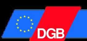 DGB-Logo mit Europaflagge