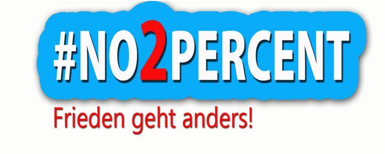 Logo NO2Percent- Frieden geht anders