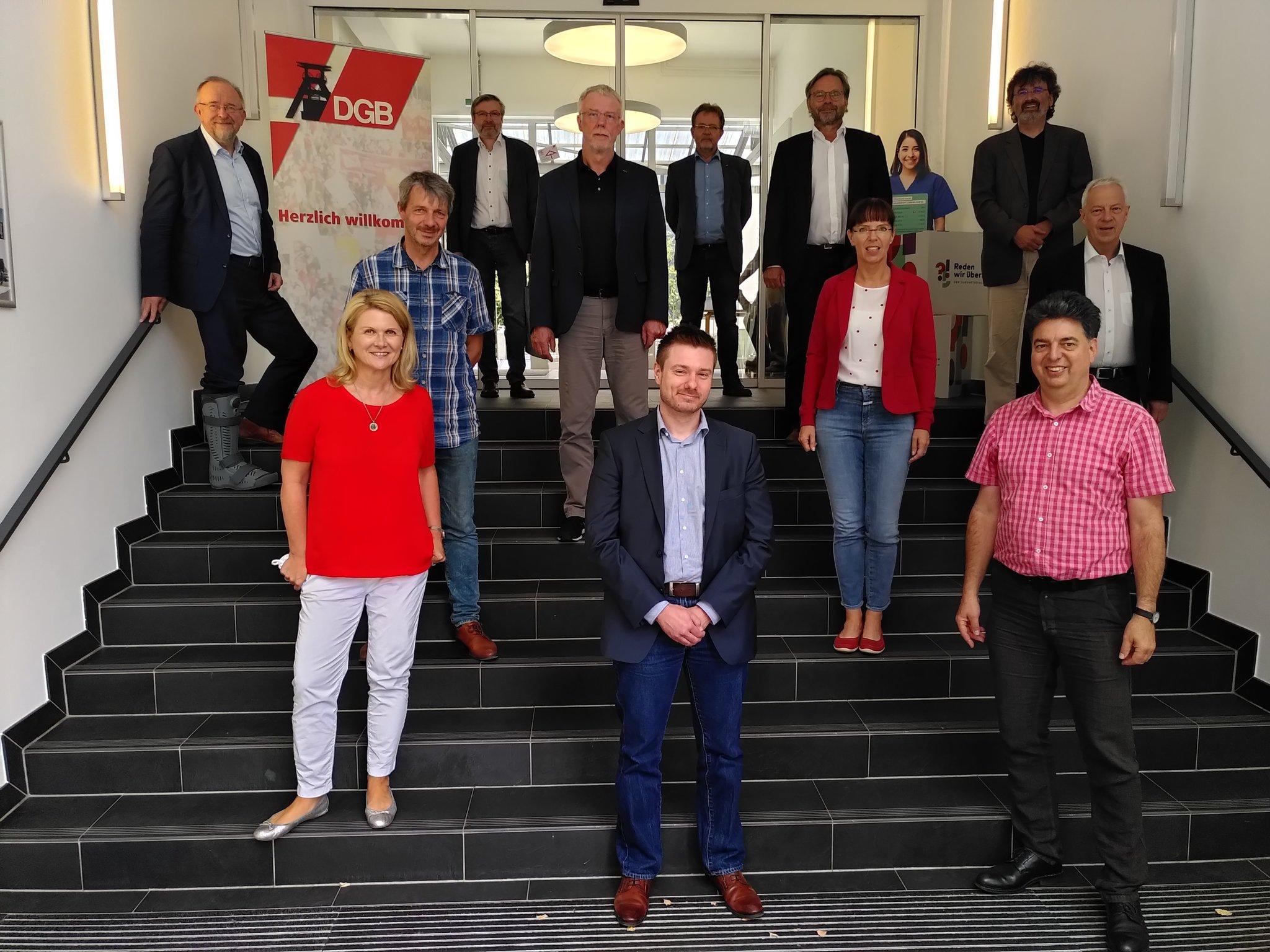Gruppenbild mit DGB und Ruhr-SPD MdBs