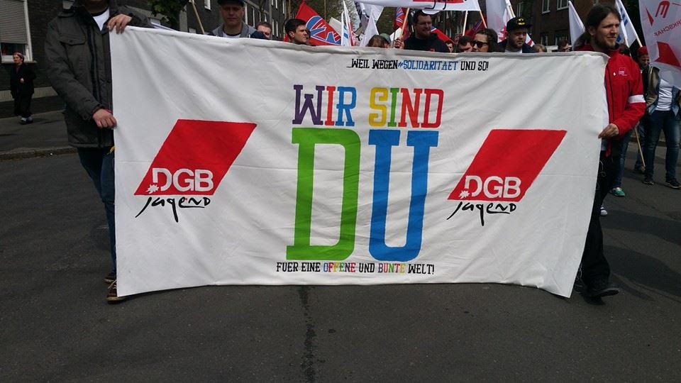 """DGB-Jugend Logo """"Wir sind DU"""""""