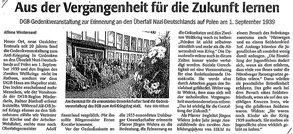 DGB Antikriegstag - Presse