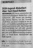 DGB Jugend NR 2011 Spätschicht McDonalds