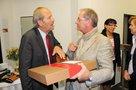 Rainer Bischoff und Bodo Wilms (Bezirksleiter IG BCE)